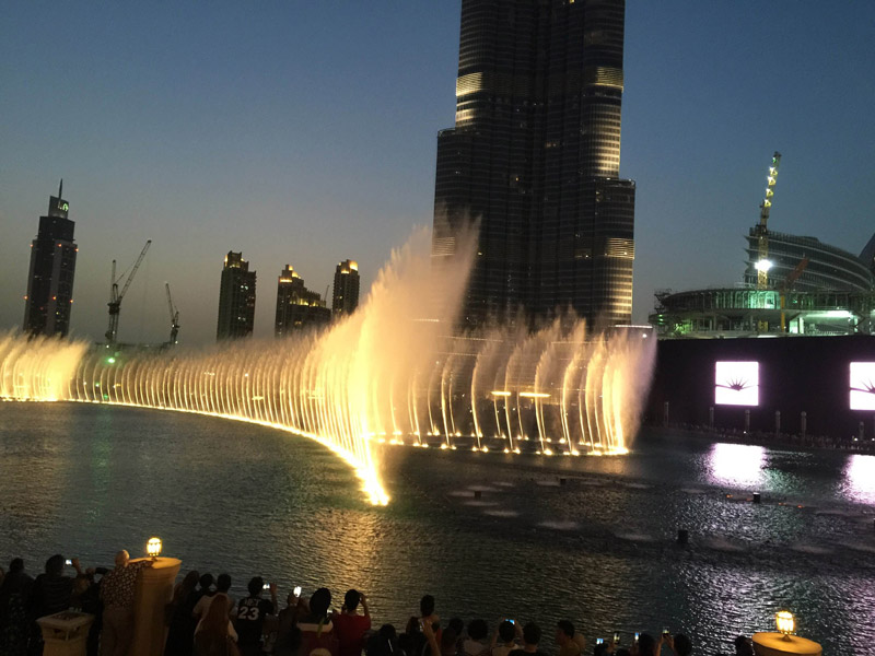 舞台声控喷泉
